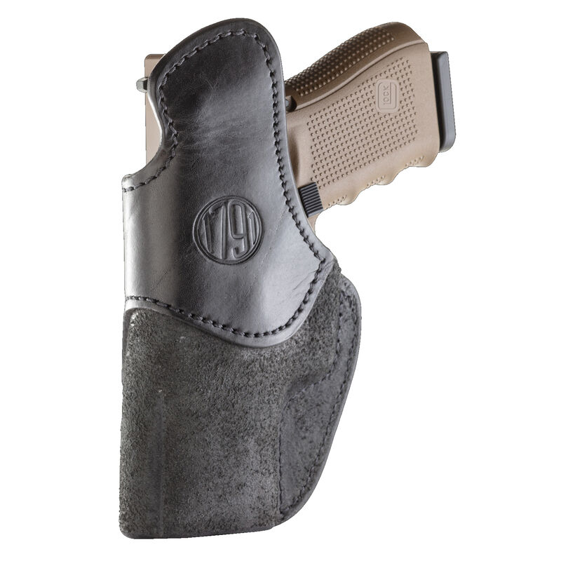 1791 Gunleather Rigid RCH-4 Multi-Fit IWB Concealment Holster for Full Size/Compact Semi Auto Pistols Right Hand Draw Leather Black