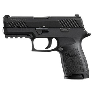 "SIG Sauer P320 Nitron Compact Semi Auto Pistol 9mm Luger 3.9"" Barrel 10 Rounds Contrast Sights SIG Rail Modular Polymer Frame/Grip Matte Black Finish"