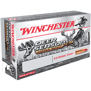 Winchester Deer Season XP Copper Impact .300 Win Mag Ammunition 20 Rounds 150 Grain Lead Free Solid Copper Polymer Tip 3260fps