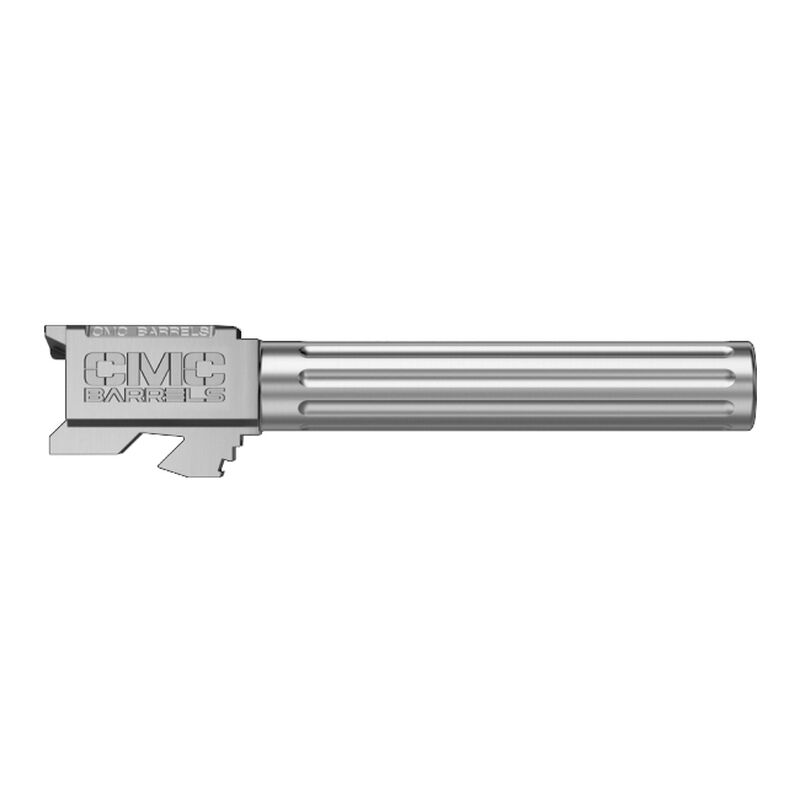 CMC Triggers GLOCK 34 Gen 3-4 9mm Luger Match Grade Drop In Replacement Barrel Fluted/Non-Threaded 416R Stainless Steel Natural Finish 75519