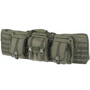 """Drago Gear 36"""" Single Gun Case Tactical Case 600 Denier Nylon MOLLE Panels OD Green"""