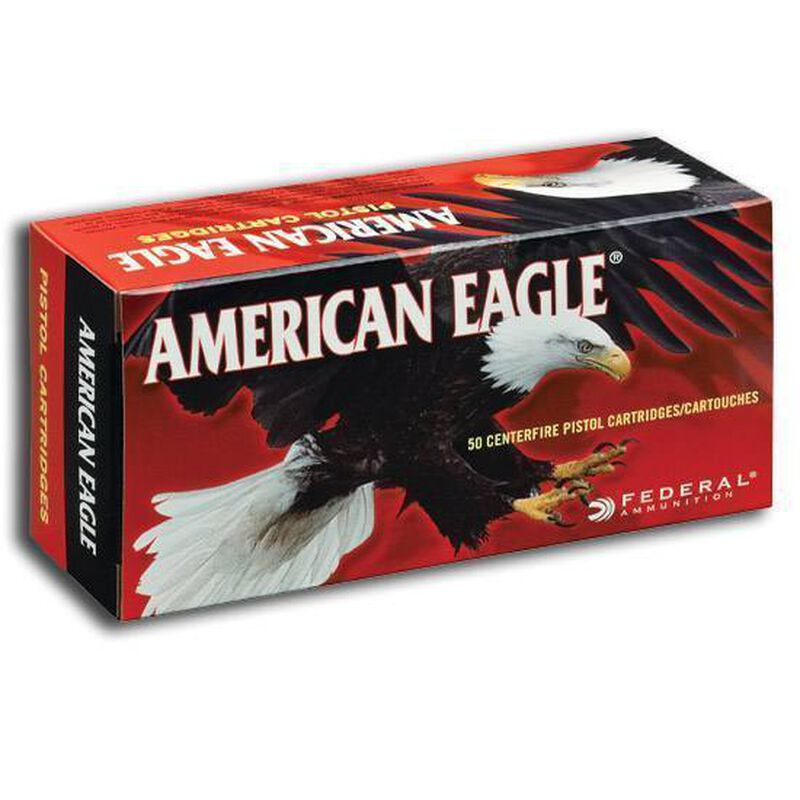 Federal American Eagle .380 ACP Ammunition 95 Grain FMJ 980 fps