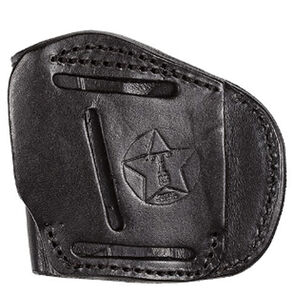 Tagua Gunleather TX1836 4 Victory Fits Most 9/40/45 Double Stack Pistols 4 Position Right Hand Leather Black