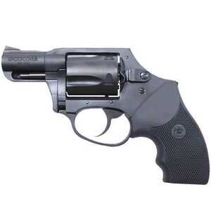 """Charter Arms Undercover Hammerless Revolver .38 Special 2"""" Barrel 5 Rounds Black Rubber Grips Blued 13811"""