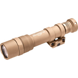SureFire M600DF Scout Light Weaponlight White LED 1500 Lumens Rechargeable SF18650B or 123A Batteries Picatinny Rail Mount Aluminum Tan