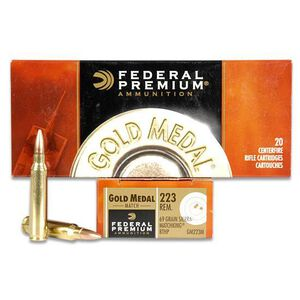 Federal Gold Medal Match .223 Remington Ammunition 69 Grain Sierra Match King HPBT 2950 fp
