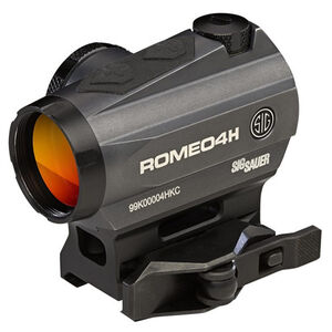 SIG Sauer Romeo4H Red Dot Optic 2 MOA Red Dot Ballistic Circle Dot Reticle AR Mount .50 MOA Adjustment Unlimited Eye Relief CR2032 Battery Graphite/Black