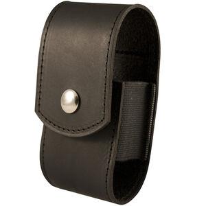 Boston Leather Motorola Minitor V Pager Case Leather Plain Black 5581-1