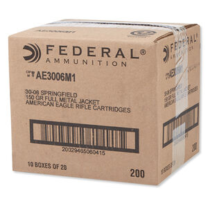 American Eagle .30-06 Springfield Ammunition 200 Rounds FMJ 150 Grains