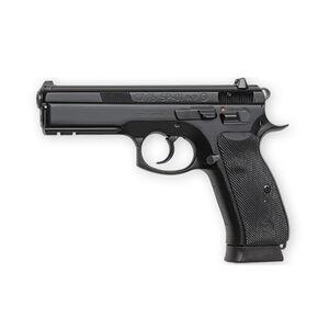 "CZ 75 SP-01 Semi Auto Pistol 9mm 4.6"" Barrel 10 Rounds Rubber Grips Night Sights Black Finish 01152"