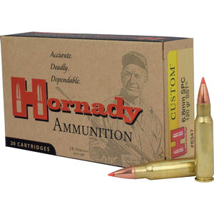 Hornady 6.8 SPC Ammunition 20 Rounds SST 120 Grains 8347