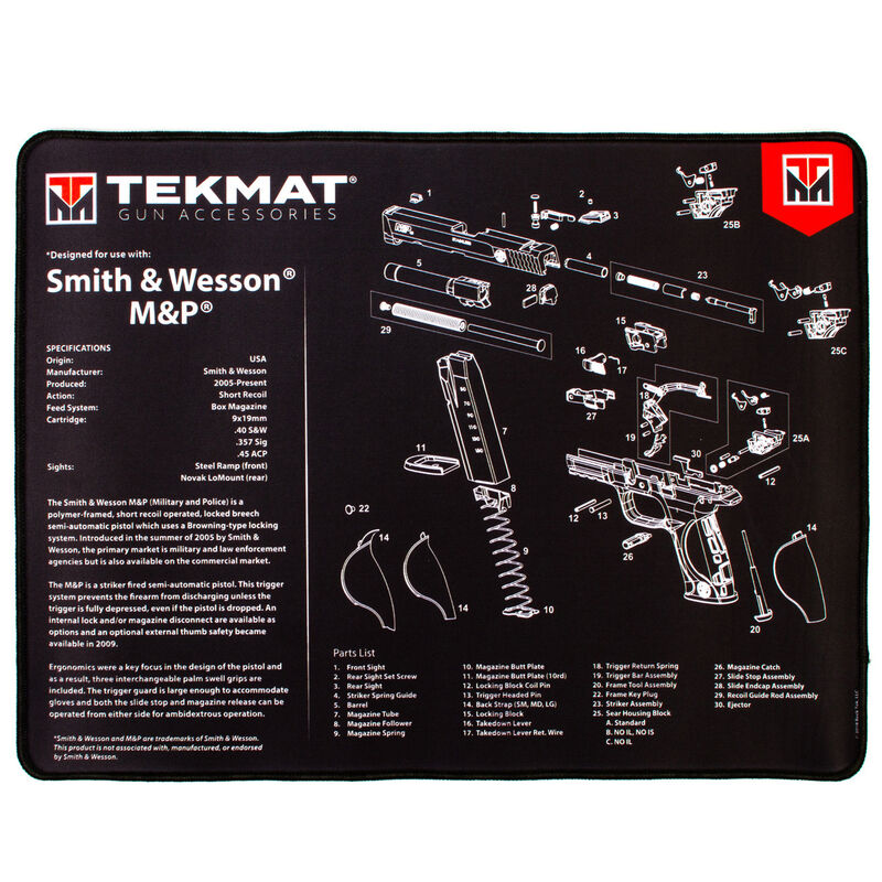 Tekmat Smith And Wesson M P Ultra Premium Gun Cleaning Mat Neoprene Cheaper Than Dirt