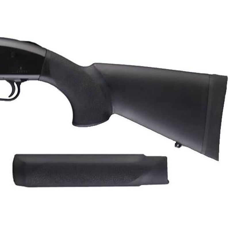 """Hogue Mossberg 500 12 Gauge OverMolded Stock With Forend 12"""" Rubber Matte Black"""