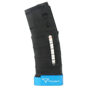 Taran Tactical Innovations Firepower Base Pad Kit +5/+6 Magpul PMAG Gen 3 30/40 Magazines CNC Machined Billet Aluminum Anodized Blue Finish