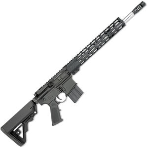 "Rock River LAR-15M Mid-Length A4 .450 Bushmaster AR-15 Semi Auto Rifle 16"" Barrel 7 Rounds Free Float M-LOK Handguard Collapsible Stock Black Finish"