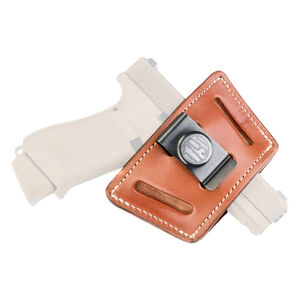 1791 Gunleather Universal IWB/OWB Holster for Compact Frame Semi Auto Pistols Ambidextrous Draw Classic Brown