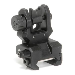 CAA Low Profile Rear Flip-Up Sight PIcatinny Mount Polymer/Steel Black