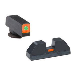 Ameriglo Sight Set for GLOCK Green Tritium Front Dot with Orange Square Outline and Orange Rear Blade