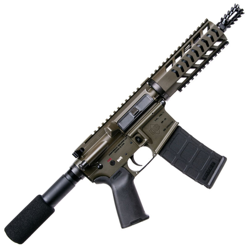"Diamondback DB-15 AR Semi Auto Pistol 5.56 NATO 10.5"" Barrel 4 Rail Hand Guard OD Green"