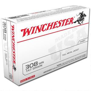 Winchester USA .308 Winchester Ammunition 200 Rounds FMJ 147 Grains USA3081