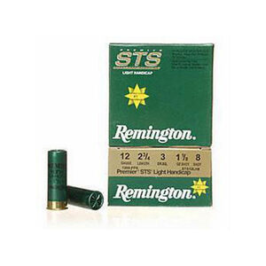 Remington STS Light Handicap 12 Gauge Ammunition 250 Rounds 2.75 #8 Lead 1.125 Ounce STS12LH8