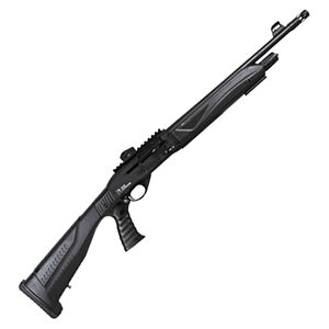 """Iver Johnson HP18-12 12 Gauge Semi-Auto Shotgun 18.5"""" Barrel 3"""" Chamber 5 Rounds F/O Front and Ghost Ring Rear Sight Synthetic Convertible Pistol Grip Stock Matte Black Finish"""