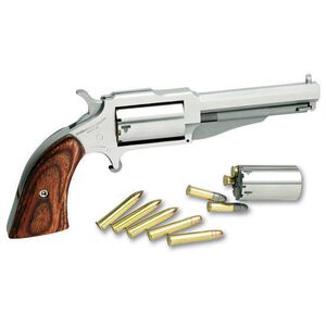 """NAA The Earl Single Action Revolver .22 Magnum 6.75"""" Barrel 5 Rounds Wood Grips Stainless Finish NAA18603C"""
