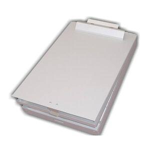 Posse Box Aluminum Letter Size Bottom Opening Storage Clipboard, Silver