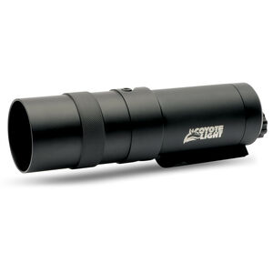Coyote Light Flashlight Red LED Light with Rail Mount Rechargeable 3.7V Batteries Aluminum Black