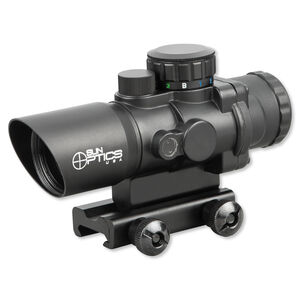 Sun Optics USA CQB 3X32 Prismatic IR Sight Red/Green/Blue MIlitary Reticle Black