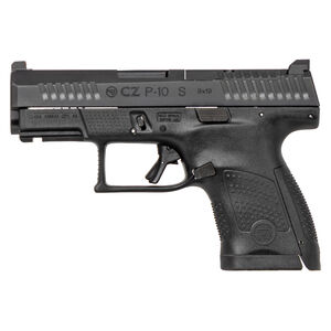 "CZ P-10 S Sub-Compact Optics Ready 9mm Luger Semi Auto Pistol 3.5"" Barrel 12 Rounds Night Sight Fiber Reinforced Polymer Frame Matte Black Finish"