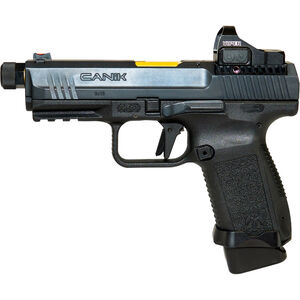 "Century Arms Canik TP9 Elite Combat Executive 9mm Luger Semi Auto Pistol 4.73"" Barrel 18 Rounds with Vortex Optic Polymer Frame Black Finish"