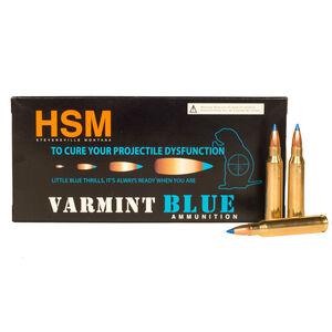 HSM Varmint Blue .223 Remington Ammunition, 20 Rounds, Polymer Tip, 55 Grains