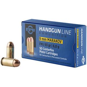 Prvi Partizan PPU 9x18 Makarov Ammunition 50 Rounds 93 Grain FMJ 1050fps
