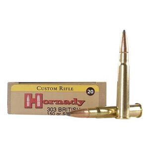 Hornady Custom .303 British Ammunition 20 Rounds SP 150 Grains 8225
