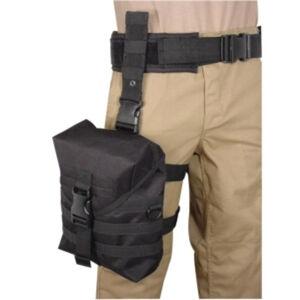 Voodoo Tactical Deluxe Gas Mask Hip Platform Nylon Black 15-817901000