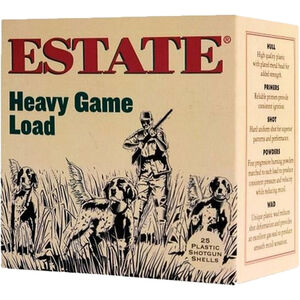 "Estate Cartridge Upland Hunting Load 12 Gauge Ammunition 2-3/4"" Shell #6 Lead Shot 1-1/8 oz 1255 fps"