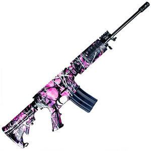 "Windham Weaponry Superlight SRC 5.56 NATO AR-15 Semi Auto Rifle 16"" Barrel 30 Rounds Muddy Girl Camo Polymer Hand Guard Collapsible Stock Matte Black Finish"