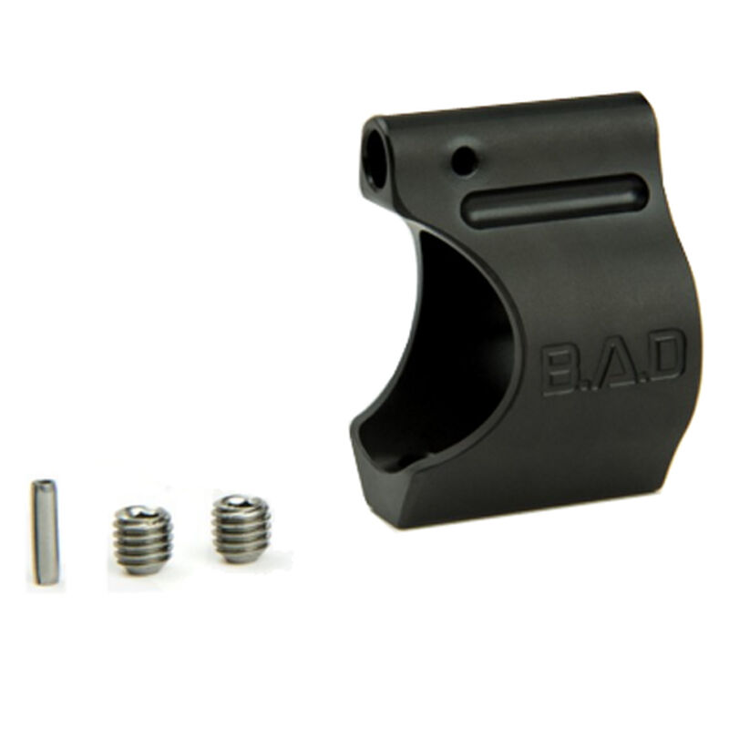 "Battle Arms Development Lightweight Low Profile Titanium Gas Block .750"" Diameter C-Shaped Profile Set Screw Mount Black PVD Finish 100-800-003"