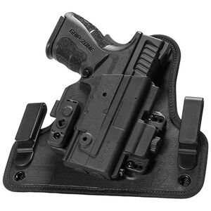 """Alien Gear ShapeShift 4.0 Springfield XDM Compact with 3.8"""" Barrel IWB Holster Right Handed Synthetic Backer with Polymer Shell Black"""