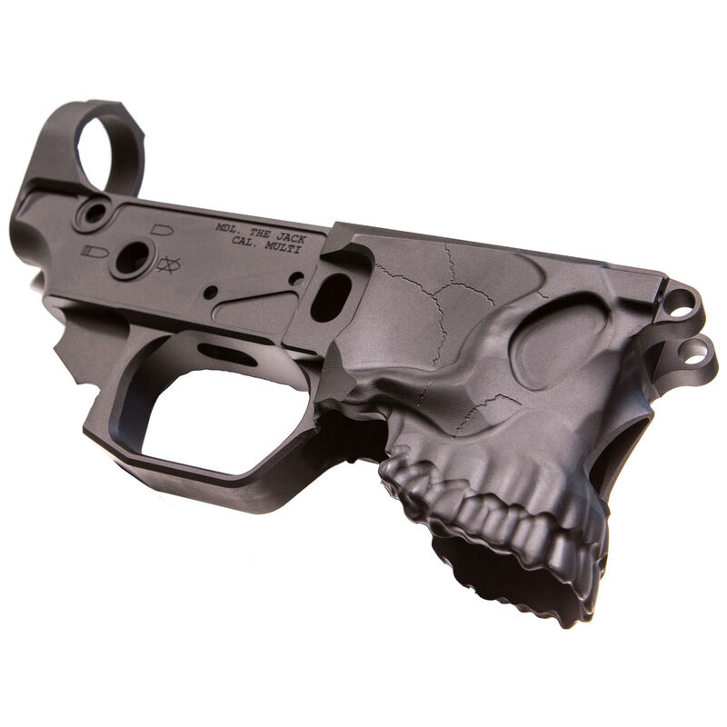 Sharps Bros  The Jack Stripped AR-15 Lower Receiver 7075-T6 Aluminum  Anodized Multi-Cal Marked Black