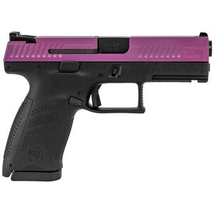 "CZ P-10 C 9mm Semi Auto Pistol 4.02"" Barrel 15 Rounds 3 Dot Sights Black Polymer Frame Wild Purple Slide Finish"