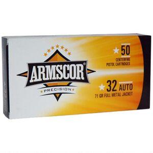 Armscor USA .32 ACP Ammunition 50 rounds 71 Grain FMJ 908 fps