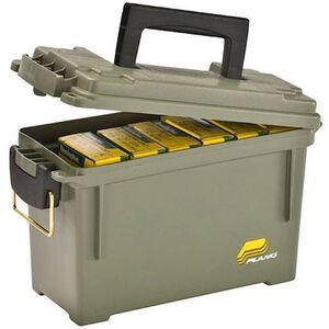Plano .30 Caliber Field/Ammo Small Box Water-Resistant O-Ring Seal Brass Bail Latch Olive Drab Green
