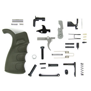 TacFire AR-15 USA Made Lower Parts Kit With Enhanced Pistol Grip OD Green LPK02USA-OD