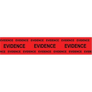 """Sirchie Box Sealing Evidence Tape 2"""" Wide 165' Long Red with Black Print Marked Evidence 707E"""