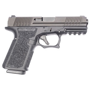 """Polymer 80 PFC9 9mm Luger Compact Semi Automatic Pistol 4.02"""" Barrel 15 Rounds Steel Sights Polymer Frame Black"""