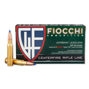 Fiocchi .308 Win Ammunition 168 Grain Barnes Tipped TSX Lead Free 2670 fps
