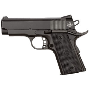 "Rock Island Armory Rock Series Compact Size 1911 Semi Auto Pistol .45 ACP 3.62"" Barrel 7 Rounds Dovetail Front Sight/Fixed Rear Sights Rubber Grips Parkerized Matte Black"
