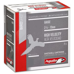 "Aguila Birdshot HV 20 Ga 2.75"" #6 Lead 1oz 250 Rounds"